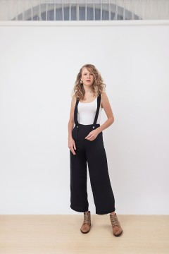 Black Dungaree Pants