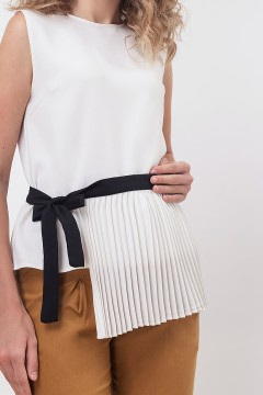 Monochrome Apron Top