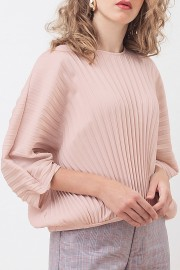 Nude Louise Pleated Top