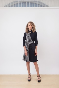 Chekced Denise Dress