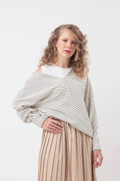 White Stripes Zoe Sweater