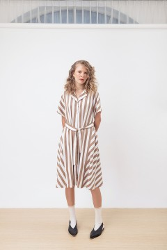 Khaki Stripes Rayne Dress