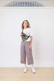 Plaid Stitched Pants