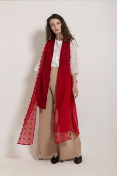 Red Bloom Outer Dress