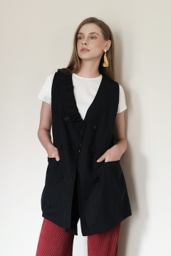 Black Stripes Zola Vest