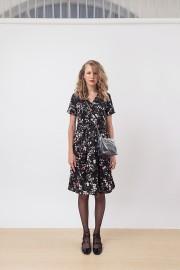 Black Floral Ester Dress
