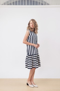 Navy Stripes Belle Dress