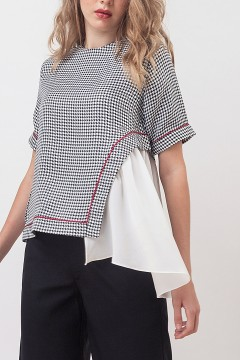 Houndstooth Giselle Top