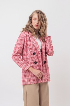 Red Checked Elliot Blazer