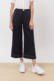 Black Stitched Pants